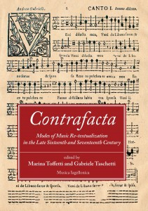 Marina Toffetti, Gabriele Taschetti (eds.): Contrafacta. Modes of Music Re-textualization in the Late Sixteenth and Seventeenth Century